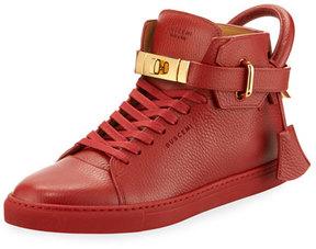 Buscemi 100mm High-Top Sneaker, Red