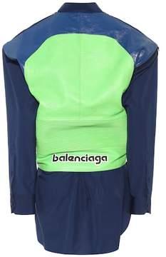 Balenciaga Leather and cotton-blend shirt