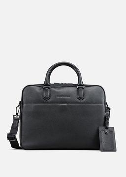 Emporio Armani grainy leather briefcase