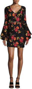 Alexia Admor Women's Floral Embroidered Dress