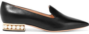 Nicholas Kirkwood Casati Embellished Leather Loafers - Black