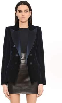 Alexandre Vauthier Tailored Velvet & Satin Jacket