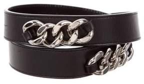 Saint Laurent Leather Chain-Link Belt