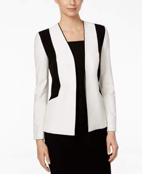 Nine West Women's Stretch Colorblocked Blazer 4, Lily/Black