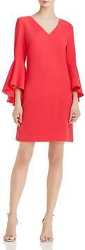 Eliza J Bell-Sleeve Crepe Dress