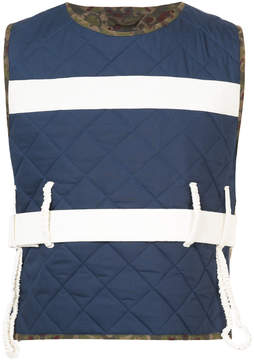 Craig Green quilted panel vest