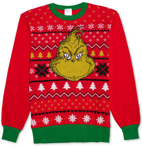 Hybrid Men's Grinch Holiday Sweater