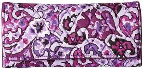 Vera Bradley RFID Trifold Wallet Wallet Handbags - LILAC PAISLEY - STYLE