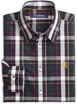 Brooks Brothers Boys' Bold Plaid Sport Shirt - Big Kid