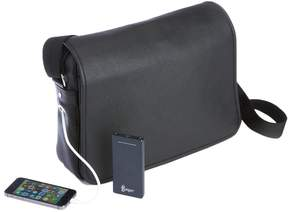 Royce Leather Power Bank Charging Leather Messenger Bag