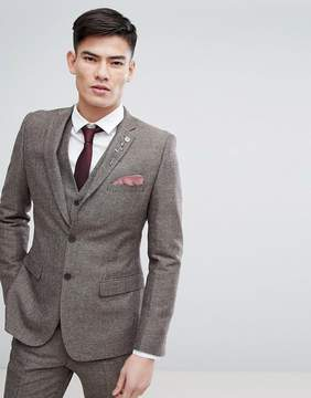 French Connection Semi Plain Donegal Slim Fit Suit Jacket