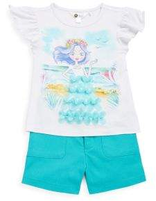Petit Lem Little Girl's & Girl's Paradise Two-Piece Outfit