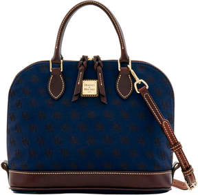 Dooney & Bourke Signature Zip Zip Satchel - NAVY - STYLE