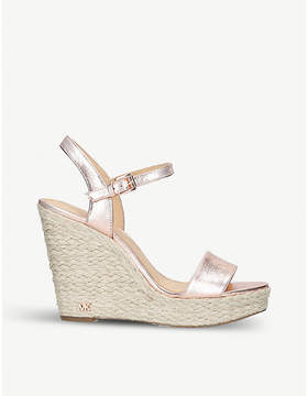 MICHAEL Michael Kors Jill metallic-leather wedge sandals