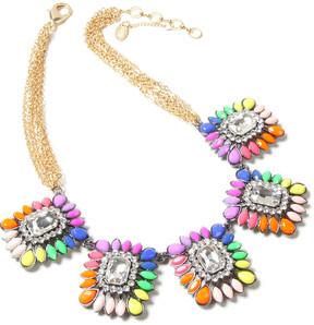 Amrita Singh Austrian Crystal Rainbow Majestic Bib Necklace