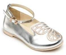 Sophia Webster Baby's, Toddler's & Kid's Bibi Butterfly Mini Silver Shoes