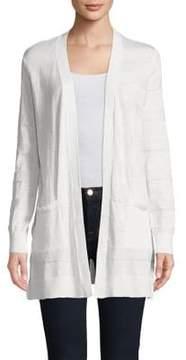 Isaac Mizrahi IMNYC Striped Open-Front Cardigan