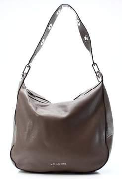 Michael Kors Michel Kors Cinder Gray Pebbled Leather Large Raven Shoulder Bag - GRAYS - STYLE