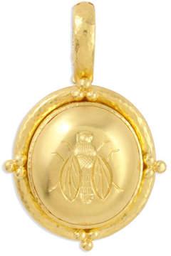 Elizabeth Locke 19k Gold Oval Honey Bee Pendant