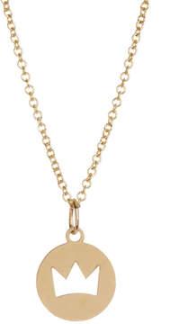 Bony Levy 14K Yellow Gold Crown Cutout Pendant Neckalce
