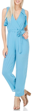 Everly Dusty Blue Lined Jumpsuit