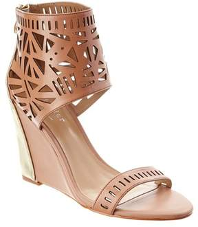 Nicole Miller Artelier Turks Leather Wedge Sandal.