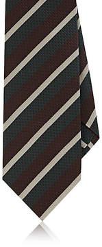 Isaia Men's Repp-Striped Silk Necktie
