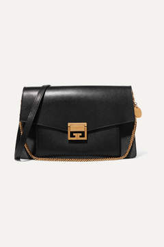Givenchy Gv3 Medium Leather And Suede Shoulder Bag - Black