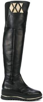 Baldinini geometric detail flatform boots