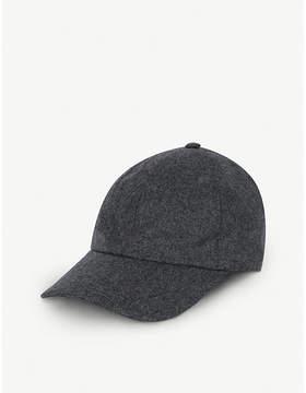 Brunello Cucinelli Leather-detail wool baseball cap