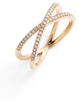 Bony Levy Women's Stackable Crossover Diamond Ring (Nordstrom Exclusive)