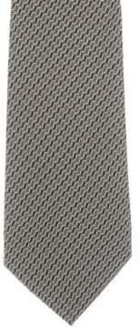 Ralph Lauren Purple Label Silk Geometric Print Tie