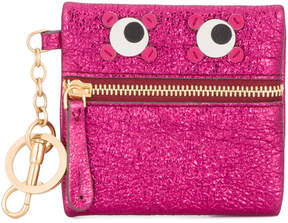 Anya Hindmarch Metallic pink leather circulus eyes coin purse