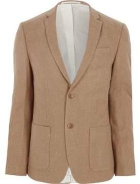 River Island Mens Camel skinny fit wool blend blazer