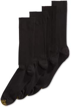 Gold Toe Men's Socks, Adc Metropolitan 3 Pairs Crew Dress Socks + 1 Pair