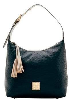 Dooney & Bourke Ostrich Paige Sac Shoulder Bag. - GERANIUM LIGHT GREY - STYLE