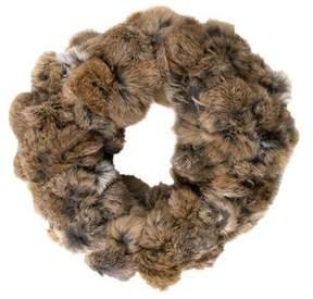 Adrienne Landau Fur Knit Infinity Scarf