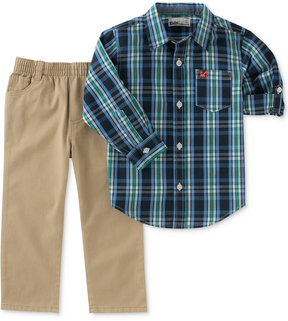 Kids Headquarters 2-Pc. Plaid Shirt & Pants Set, Baby Boys (0-24 months)