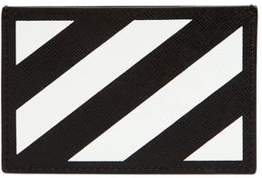 Off-White Stripes Leather Card Holder