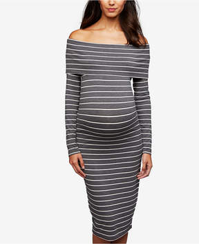 A Pea in the Pod Maternity Off-The-Shoulder Ruched Dress