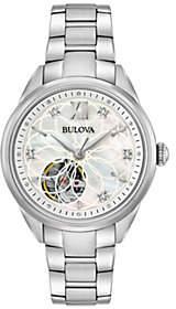 Bulova Women's Stainless Diamond Automatic Movement Watch