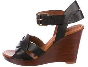 Celine Leather Platform Wedges