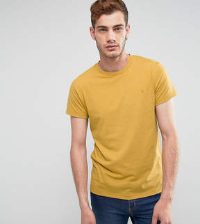 Farah Gloor Marl Slim Fit T-Shirt In Yellow
