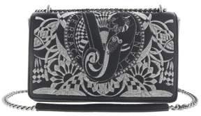 Versace EE1VRBBR7 Black Shoulder Bag with silk thread embroidery