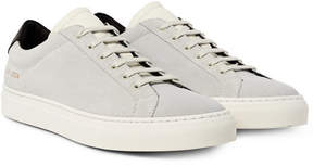Common Projects Achilles Retro Leather-Trimmed Suede Sneakers