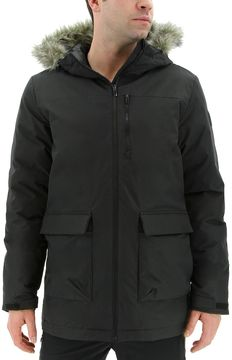 adidas Men's Outdoor Xploric Faux-Fur Hooded Parka