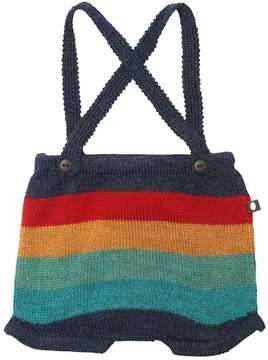 Oeuf Multicolor Striped Shorts W/ Suspenders