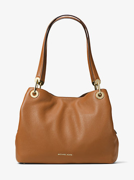 Michael Kors Raven Large Leather Shoulder Bag - BROWN - STYLE