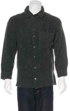 Luciano Barbera Wool Button-Up Shirt
