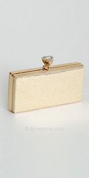 Camille La Vie Glitter Rhinestone Top Closure Box Bag